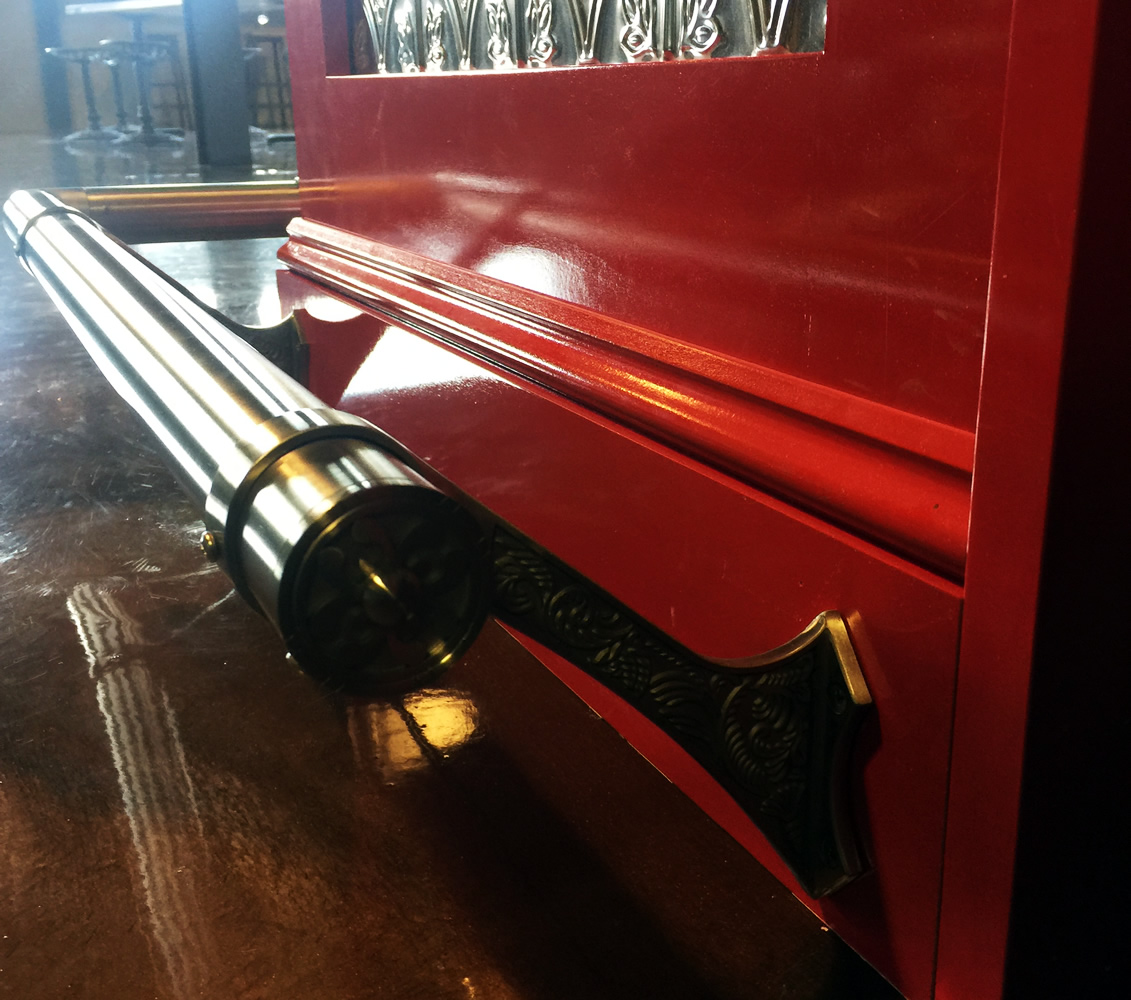 Riverhead Cider House - Satin Stainless Steel Foot Rail