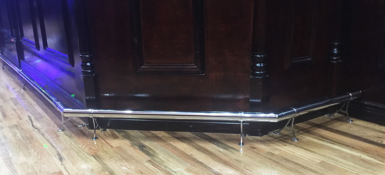 Polished Stainless Steel Foot Rail
