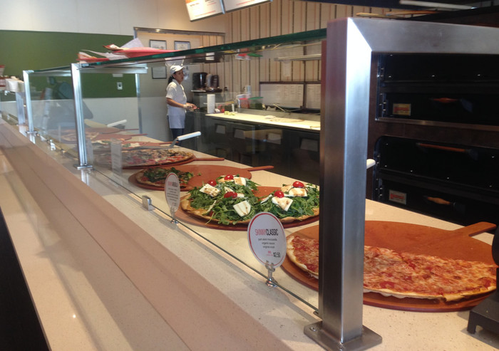 Satin Stainless Steel Food Shield - Skinny Pizza2