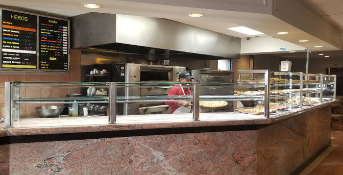 Two Tier Satin Stainless Steel Food Shield with LED Lights