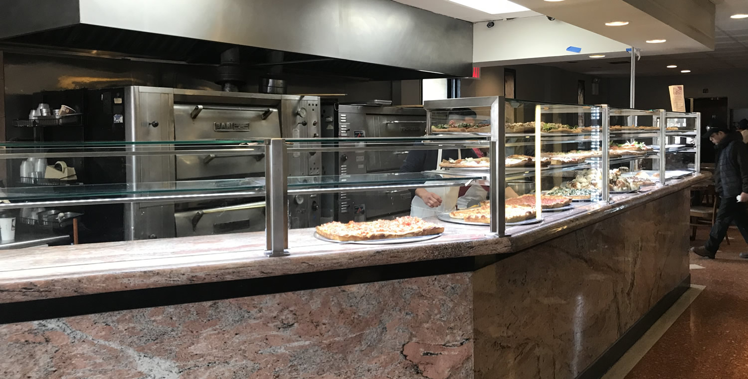 Stain Stainless Steel Food Shield with LED Lights - Aldo's Pizzeria