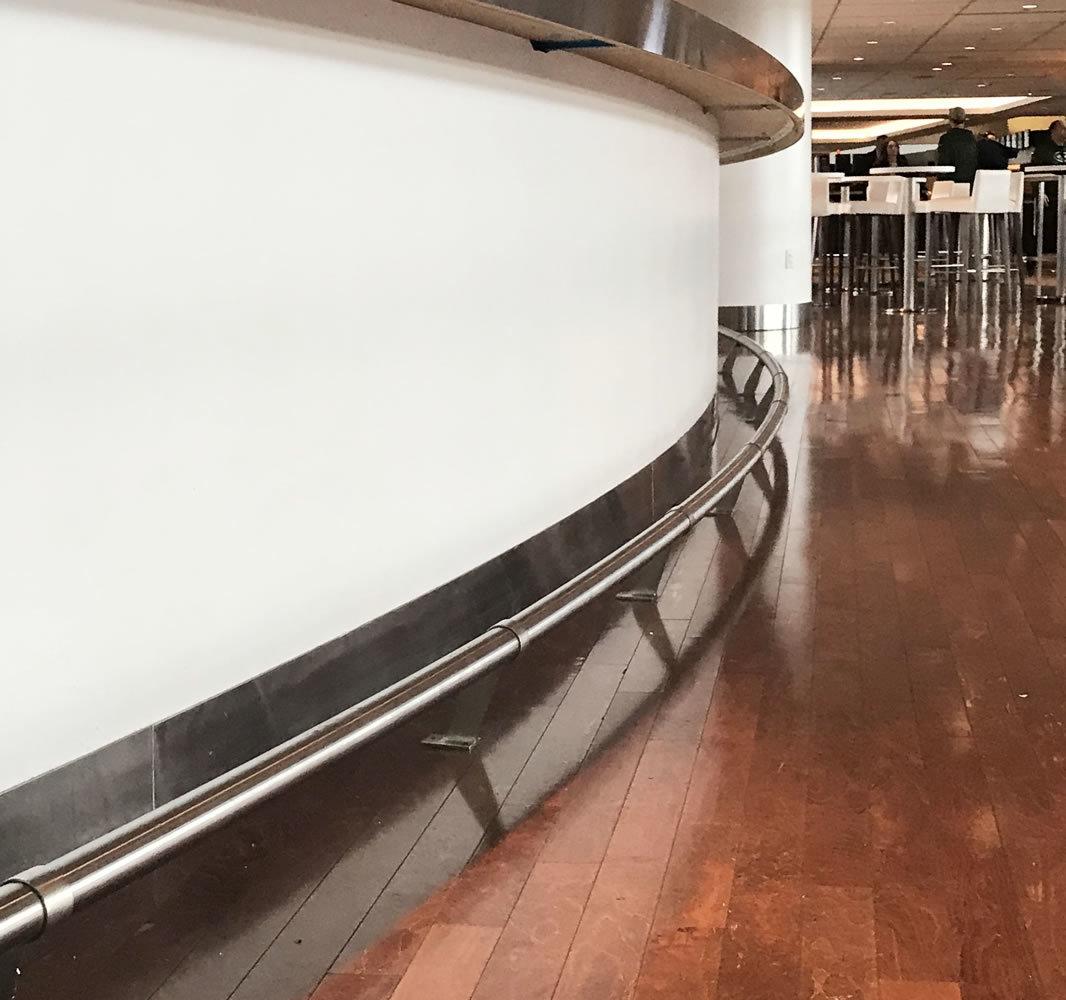 Met Life Stadium bar foot rail