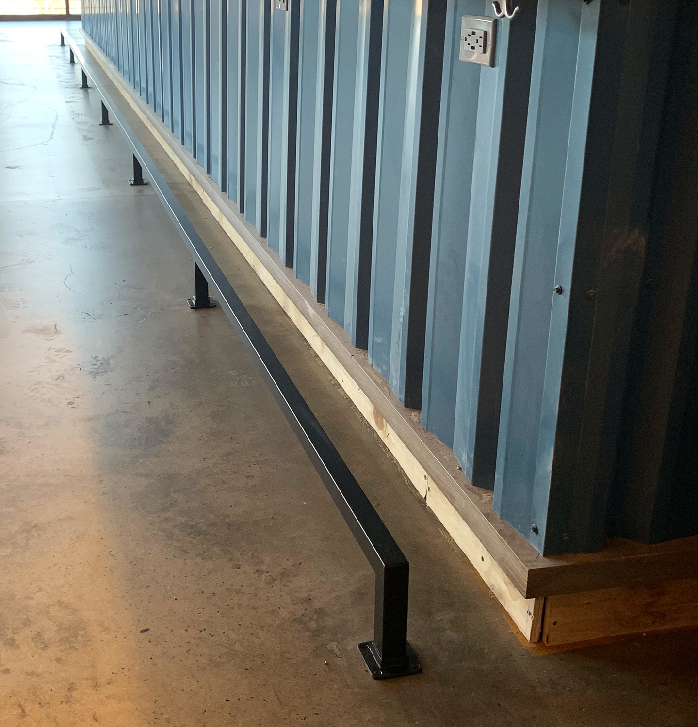 Oil Rubbed Bronze Foot Rail - Blue Point Brewery, Blue Point, NY