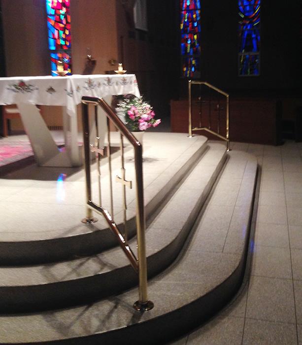 Church brass rail
