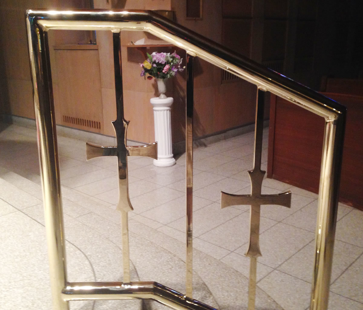 Church brass rail