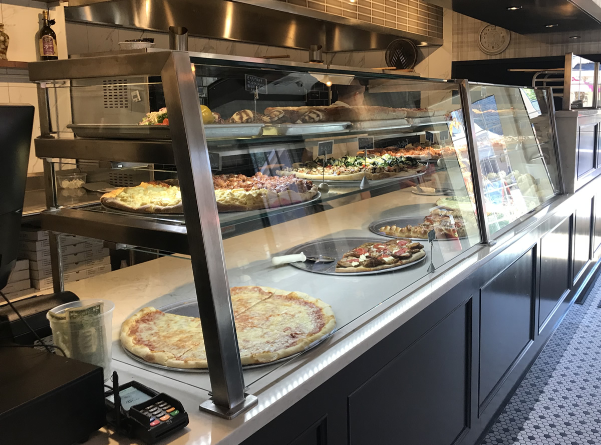 Food Shields with LED Lights   Breeze's Pizzeria