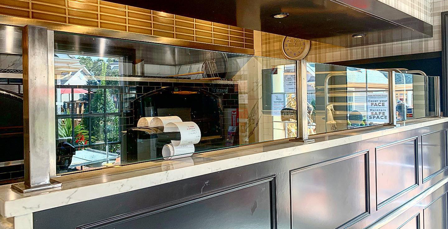 Stainless Steel Partitions | Brezza Pizza Kitchen - Wading River, NY