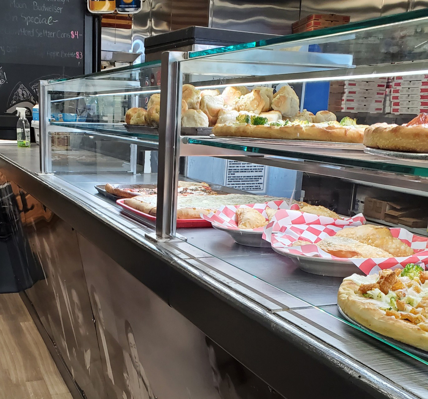 Satin Stainless Food Shield | Brother Bruno's Pizzeria & Restaurant - Washingtonville, NY