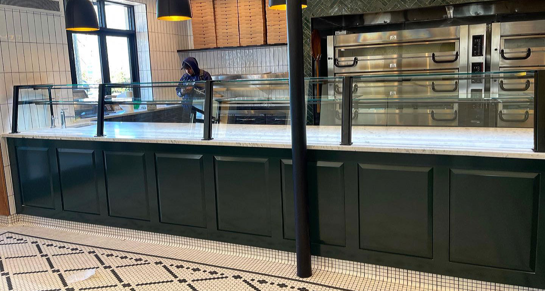Custom Matte Black Food Shield with LED Lights - Capriccio Pizzeria & Restaurant, Croton-On-Hudson, NY