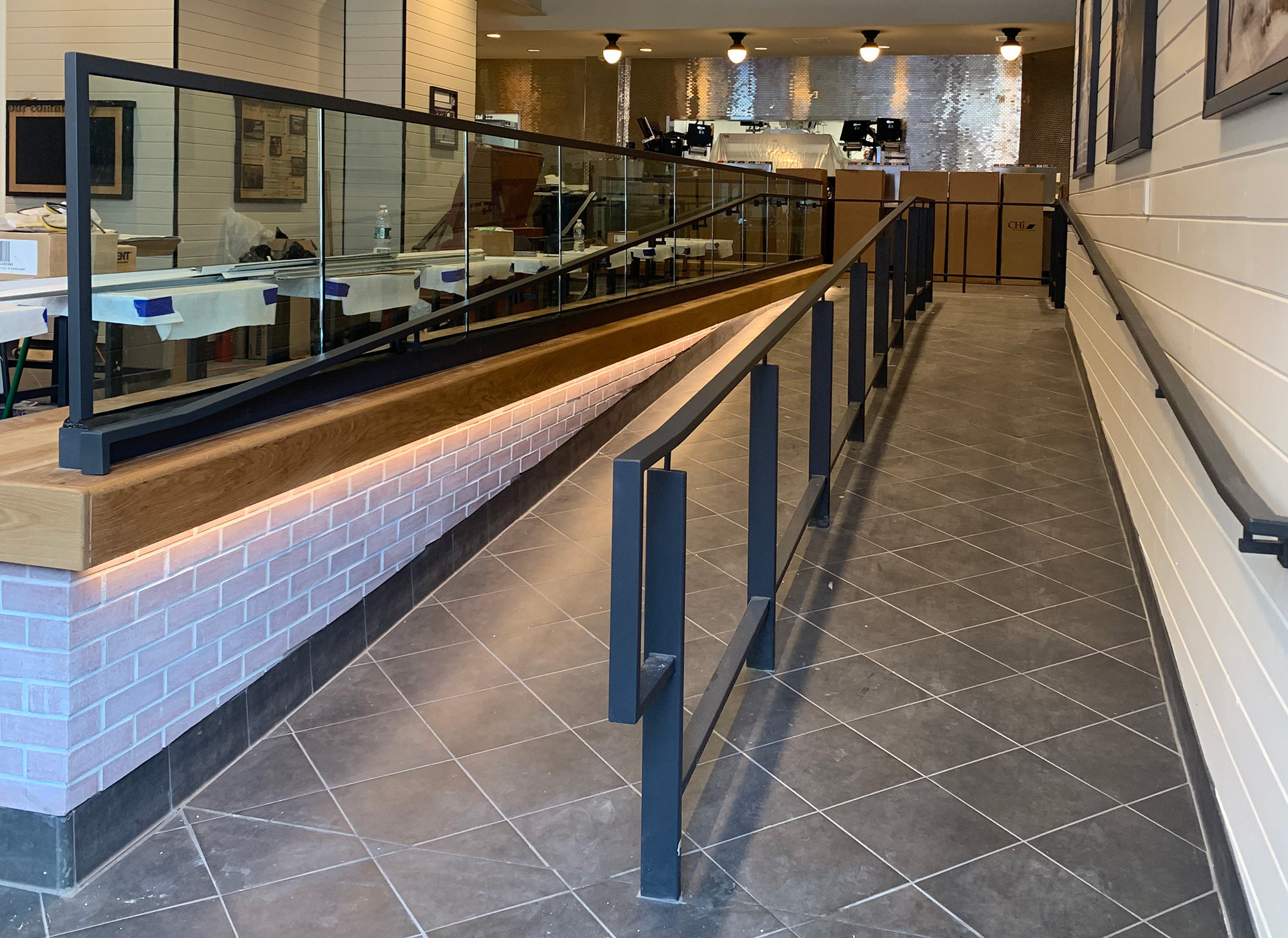 Glass Partitions & Railings - Chick-fil-A,  Brooklyn, NY
