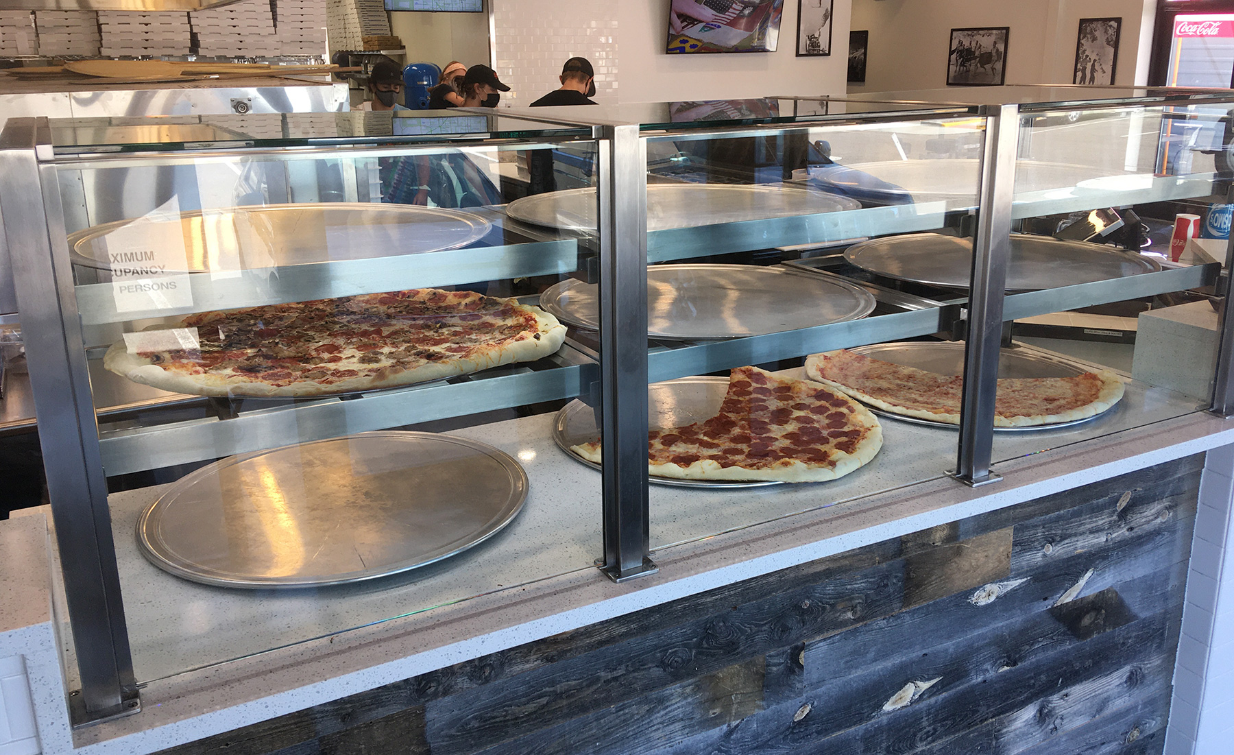 Satin Stainless Steel Food Shield | Cosmos Pizza - Lafayette, CO