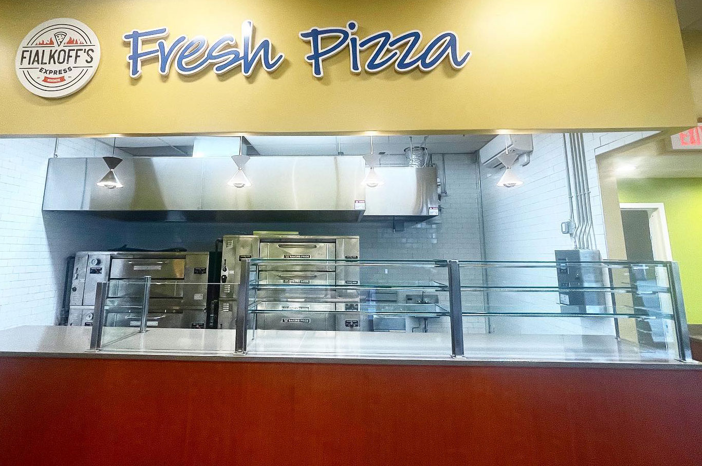 Satin Stainless Steel Food Shield with LED Lights | Fialkoff's Express - Woodmere, NY
