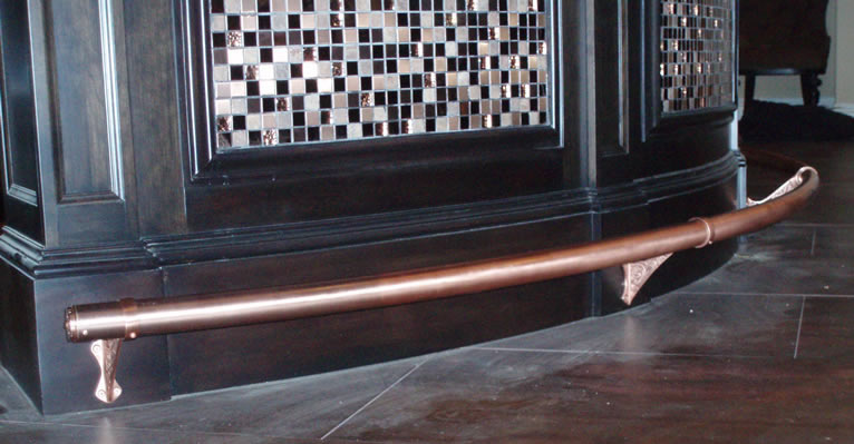 Satin Copper foot rail