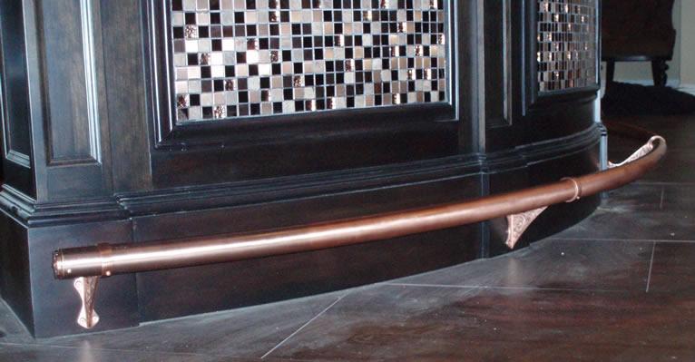 Satin Copper foot rail