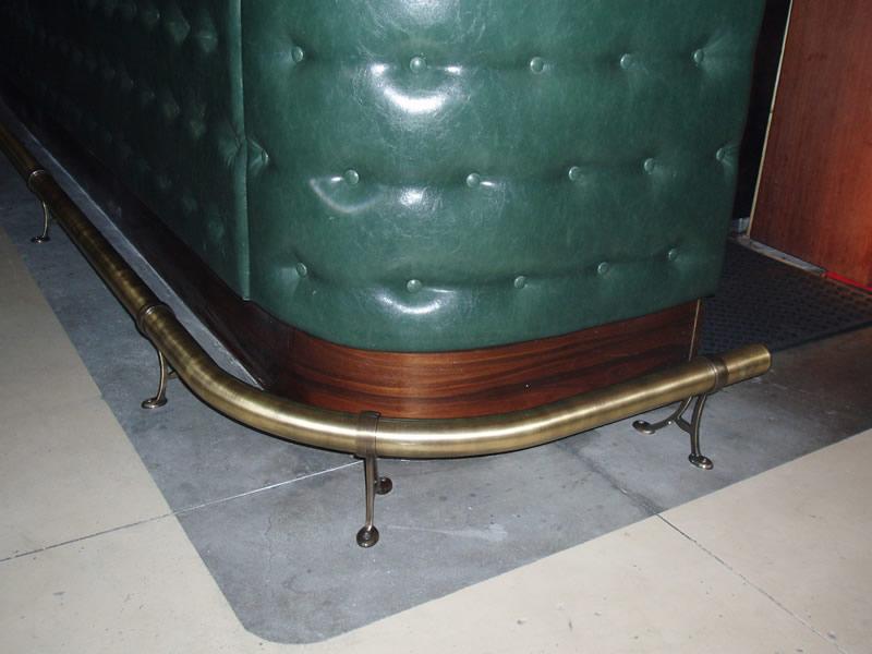 Antique brass with 103 floor brackets