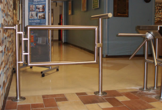 Hospital - Satin Stainless Steel Gate