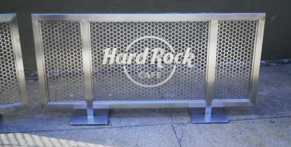 Hard Rock Cafe - Custom Sidewalk Partitiion