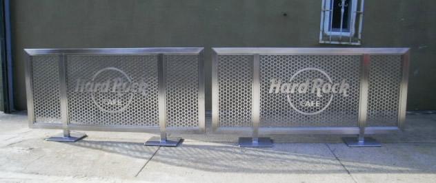Hard Rock Cafe - Custom Sidewalk Partitiions