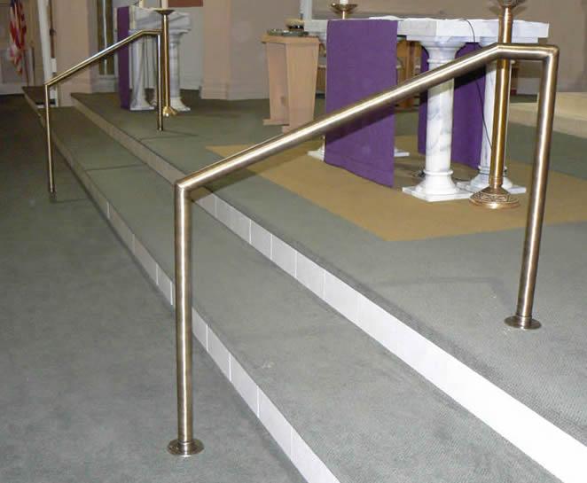 Church - Antique Brass MSR Stair Rails