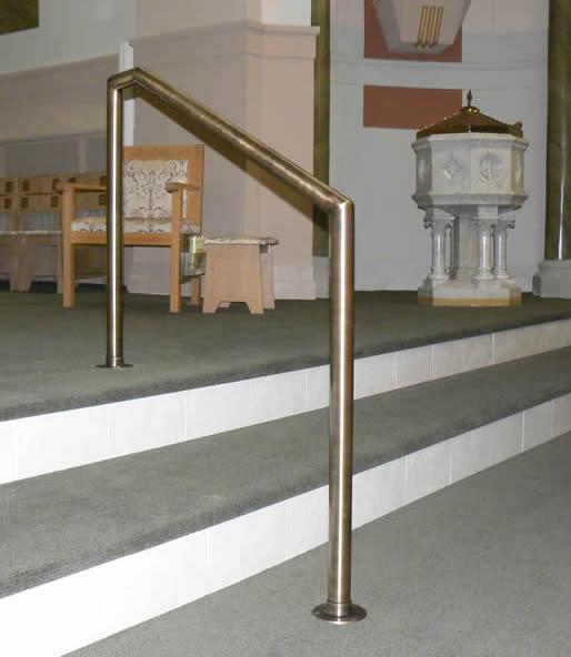 Church - Antique Brass MSR Stair Rail