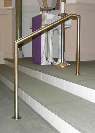 Church - Antique Brass MSR Stair Rail