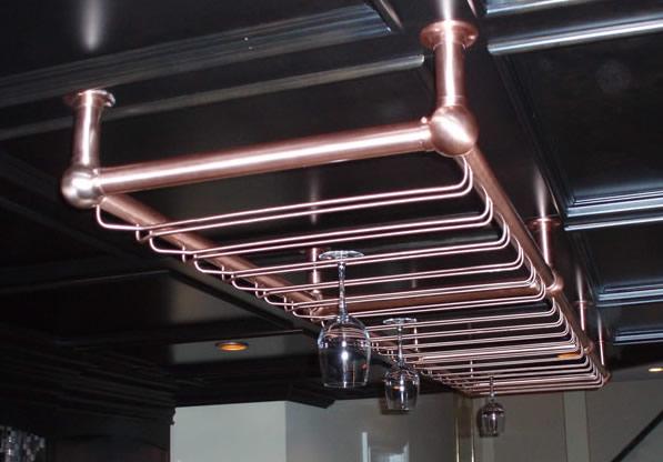 Satin Copper Glass Rack