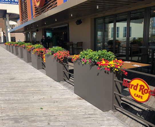 Custom Outdoor Railing With Planters - Hard Rock Hotel & Casino | Atlantic City, NJ