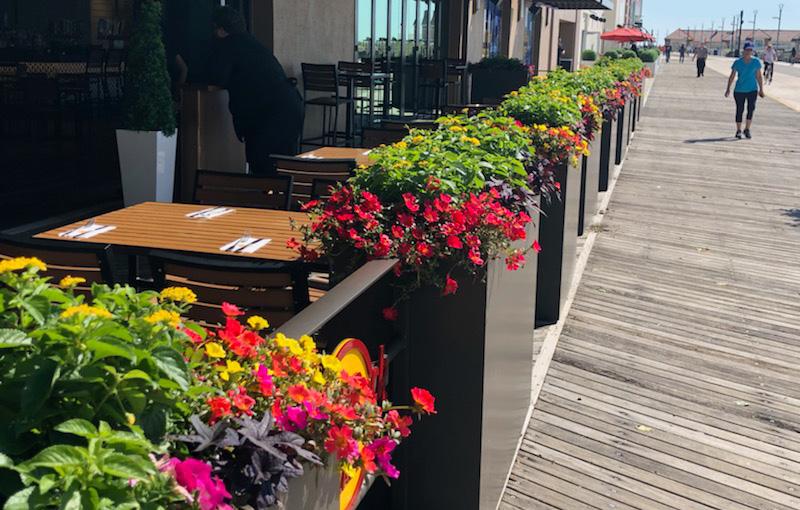 Custom Outdoor Railing With Planters - Hard Rock Hotel & Casino   Atlantic City, NJ