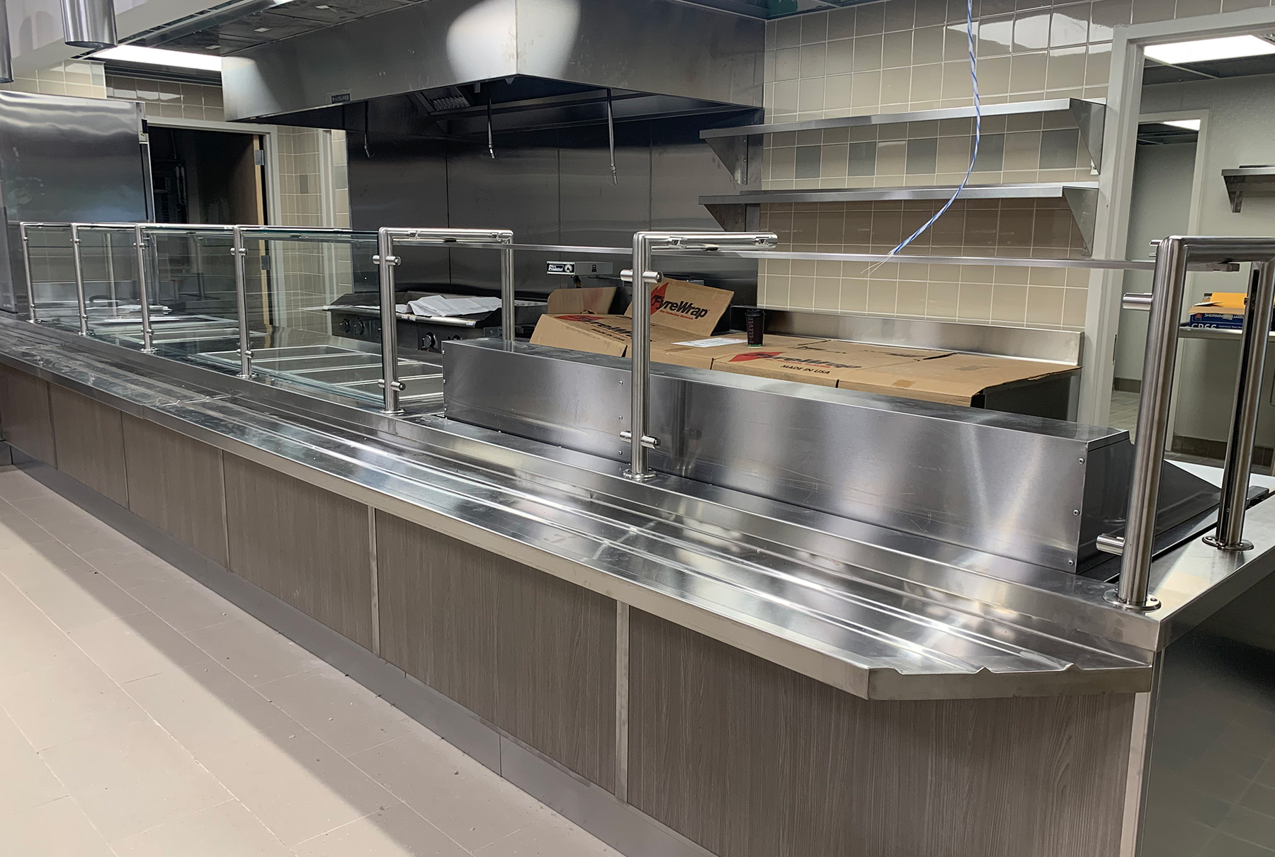 Staff Service Food Shields with LED Lights | Commercial Cafeteria in Melville, NY