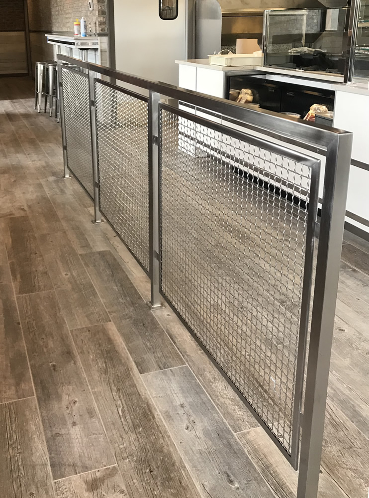 Stainless Steel & Mesh Divider Rail: Giovanni's - Patchogue, NY