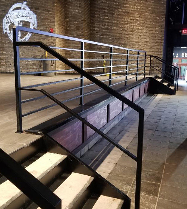 Black Powder Coated Railings - Mulcahy's Pub, Wantagh, NY