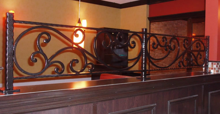Custom All-welded Powder Coated Steel Partition Posts