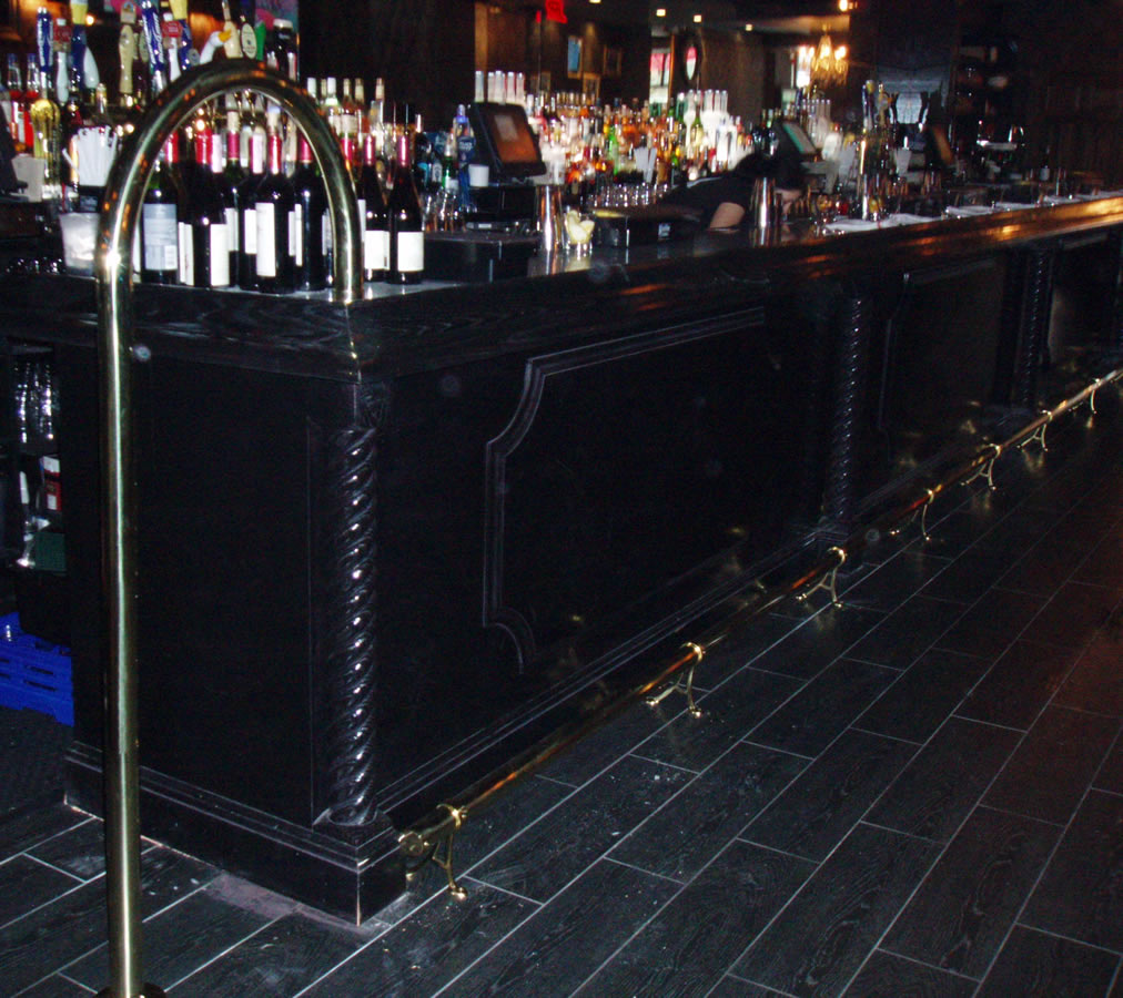 Polished Brass Foot Rail