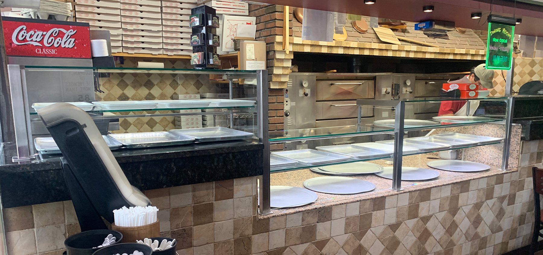 1 1/2 inch  Satin Stainless Steel Food Shield with LED Lights | Prince Umberto's - Franklin Square, NY