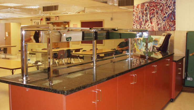 Polished Stainless Steel with Heat Lamps