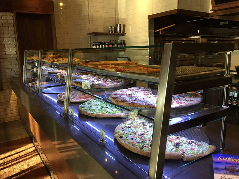 Luigi's Pizza - Satin Stainless Steel with LED Lights