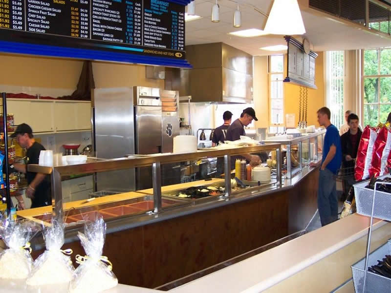 Food Court - Satin Stainless Steel
