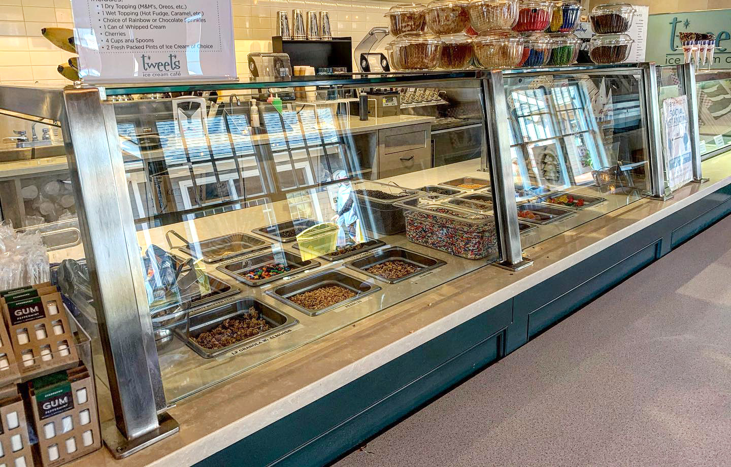 Stainless Steel Food Shield | Tweets Ice Cream Cafe - Wading River, NY