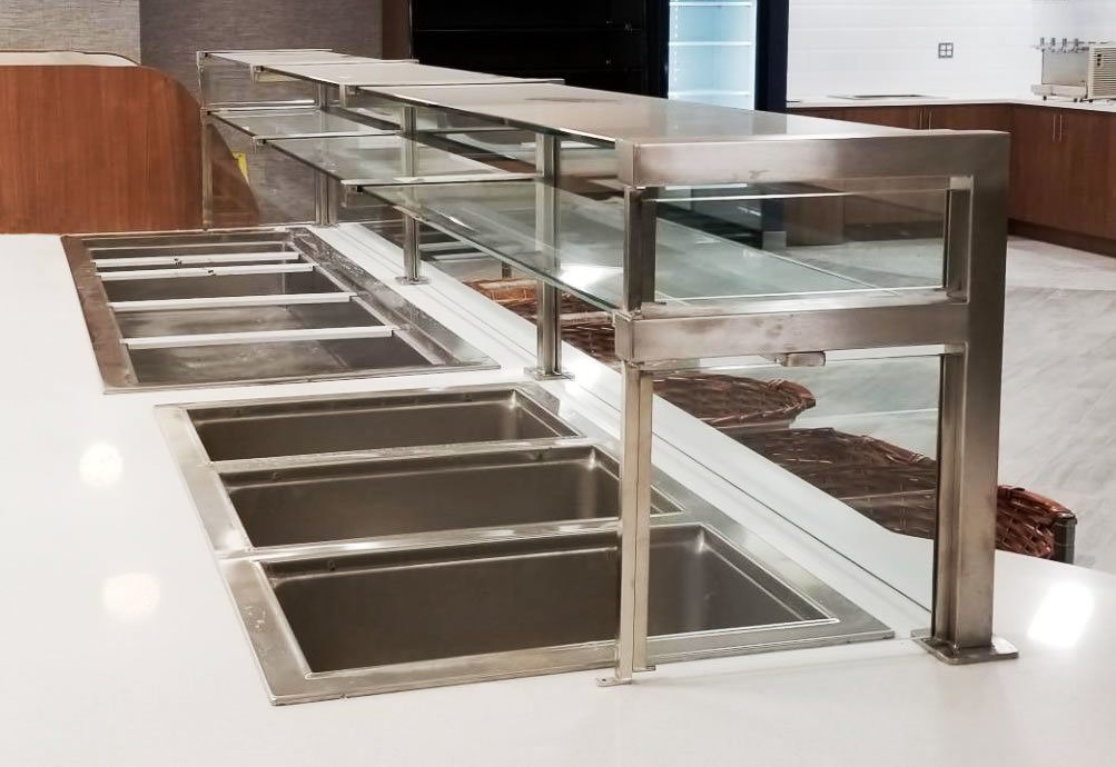 Two Tier Satin Stainless Steel Food Shield