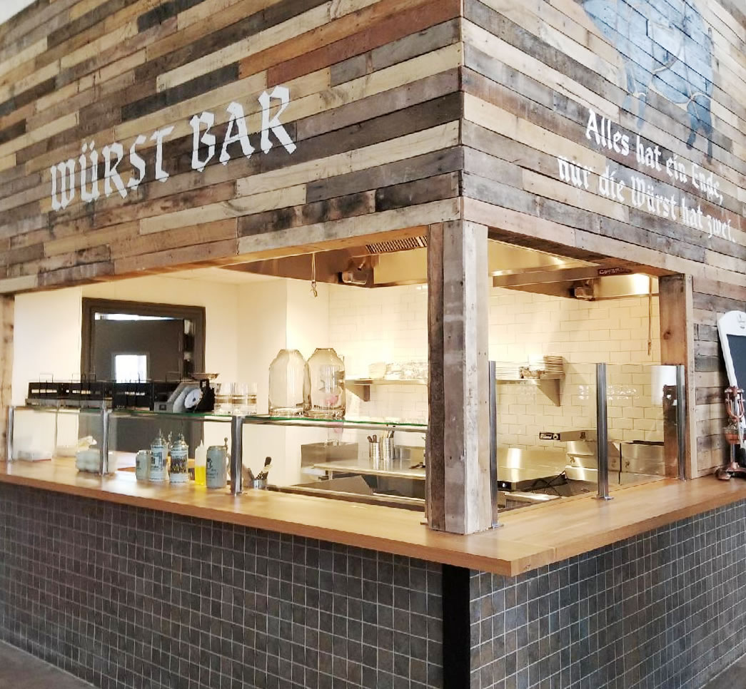 Wurst Bar, Connecticut - Satin Stainless Steel Food Shield and Partitions