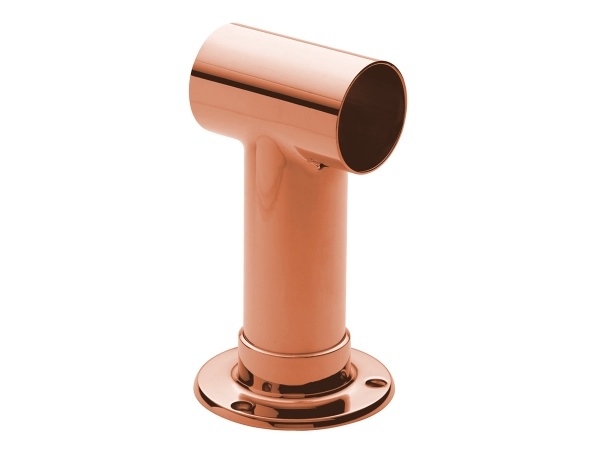 Model 128 Polished Copper Post Bracket - ESP Metal Products & Crafts