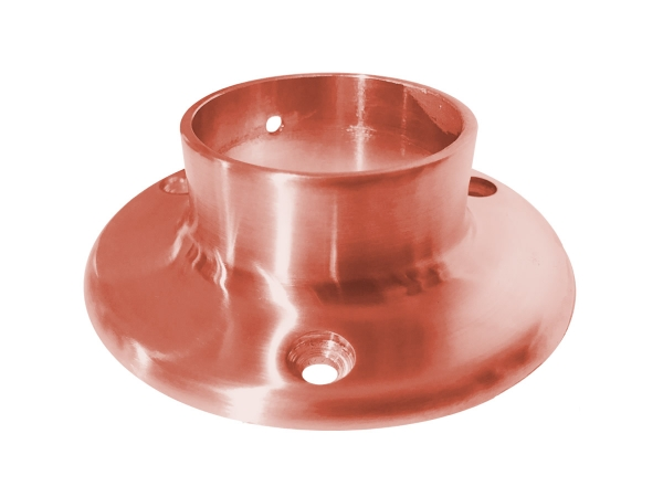 Model 505 Satin Copper Wall Flange - ESP Metal Products & Crafts