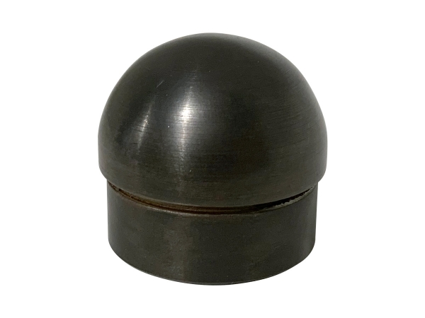 Model 730 Blackened Stainless Steel Domed End Cap - ESP Metal Products & Crafts