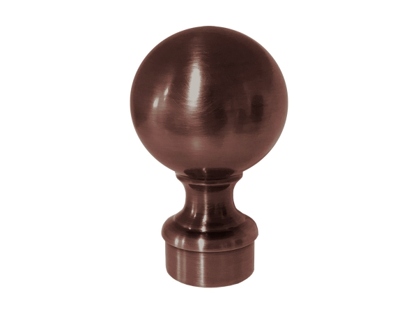 Model 812 Antique Bronze Ball Top End Cap - ESP Metal Products & Crafts
