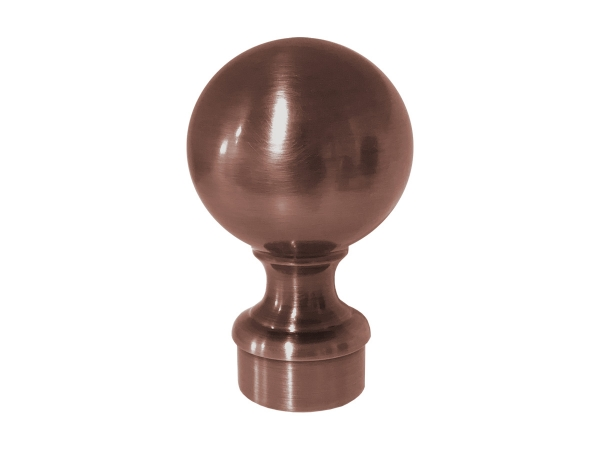 Model 812 Antique Copper Ball Top End Cap - ESP Metal Products & Crafts