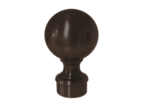 Model 812 Oil Rubbed Bronze Ball Top End Cap - ESP Metal Products & Crafts
