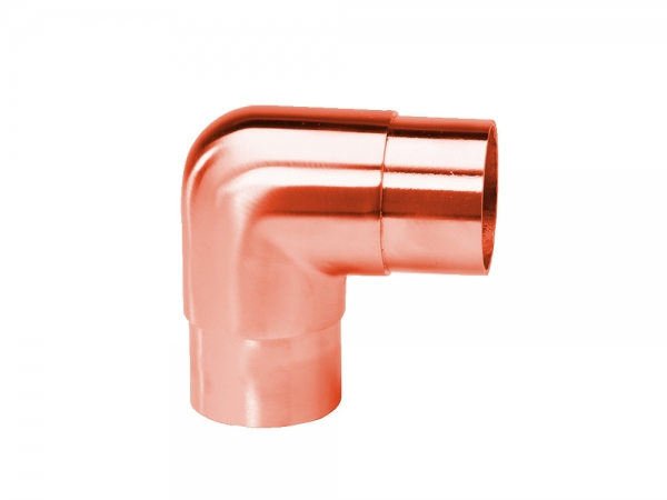 Model 303 Satin Copper Flush Elbow, 90° - ESP Metal Products & Crafts