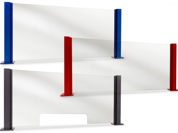 Model P216 Anodized Aluminum Partition Posts - ESP Metal Products & Crafts