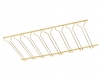Model CMGR-4 Coated Polished Brass Channel Mounted Bar Glass Rack 4' - ESP Metal Products & Crafts