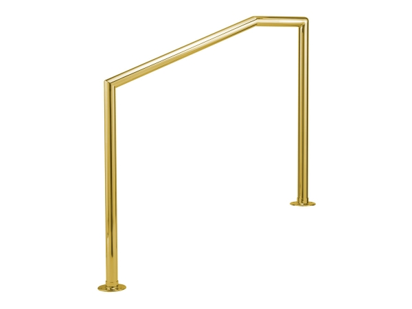 Model MSR Polished Brass Steel Stair Rail   ESP Metal Products U0026 Crafts